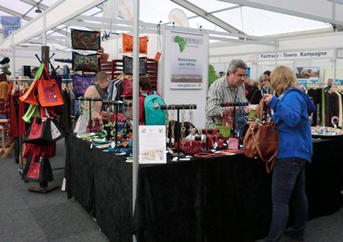 Aussteller auf der Messe Faire Welten in Mainz